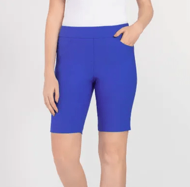 "Tribal Women's Shorts 6 Tribal, Women's ""Flatten It"" Bermuda Shorts (True Blue)"