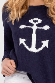 Tribal Women's Sweaters Tribal, Women's Nautical Sweater (Navy Blue)