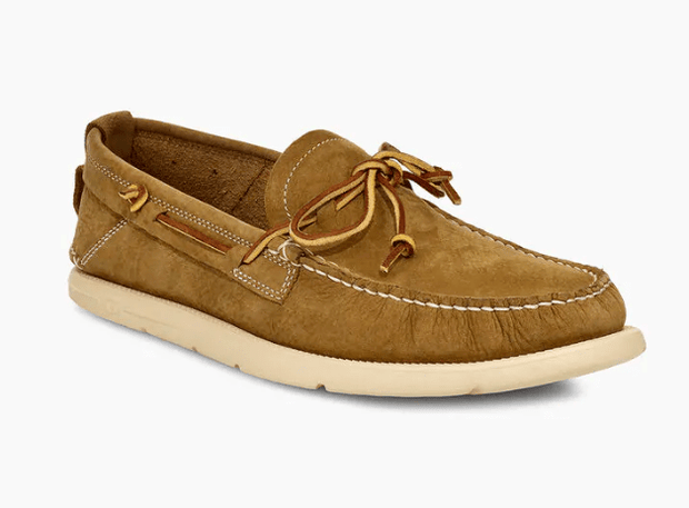 Ugg Men's Shoes 10 / Caramel Ugg, Men's Beach Moc Slip-On (Caramel)