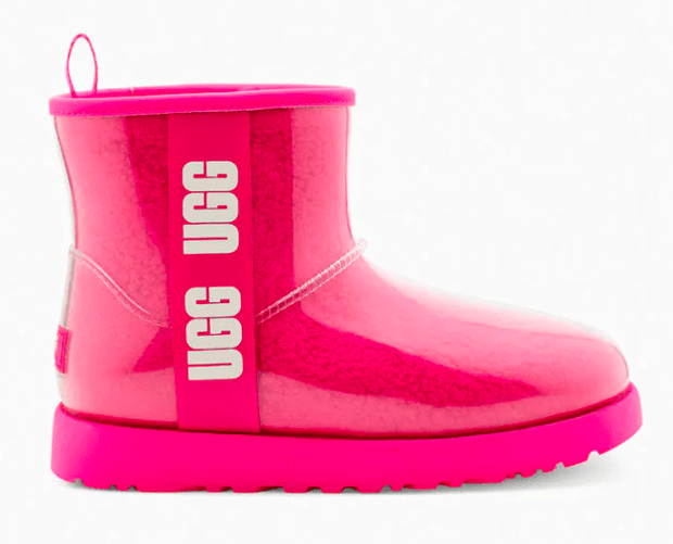 Ugg Women's Boots 7 / Fuchsia Pink Ugg, Women's Classic Clear Mini Boots (Multiple Colors)