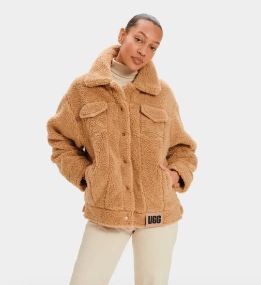 Ugg Women's Jacket Medium / Camel Ugg, Women's Frankie Sherpa Trucker Jacket (Camel)
