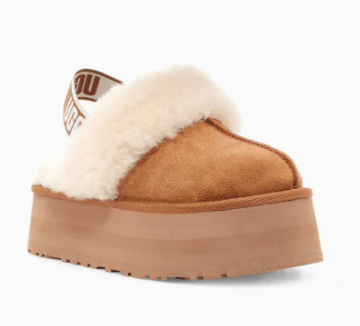 Ugg Women's Shoes 10 / Chestnut Ugg, Women's Funkette Platform Slides (Chestnut)