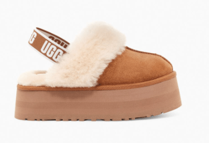 Ugg Women's Shoes Ugg, Women's Funkette Platform Slides (Chestnut)