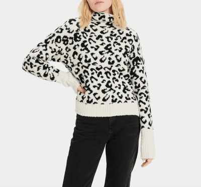 Ugg Women's Sweaters Large / Black and White Ugg, Women's Sage Sweater (Black and White)