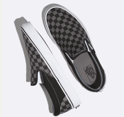Vans Men's Shoes Vans, Unisex Pewter Checker Slip-On (Black and Grey)