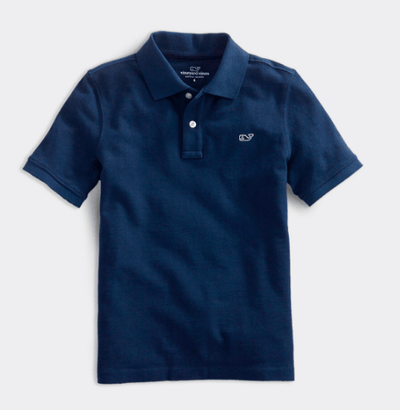 Vineyard Vines Boy's Polo Large / Navy Vineyard Vines, Kid's Classic Pique Polo (Multiple Colors)