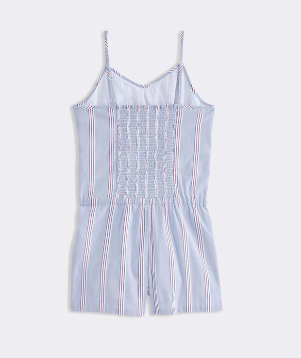 Vineyard Vines Girls dresses Vineyard Vines, Girls' Nicholls Stripe Romper (Blue)