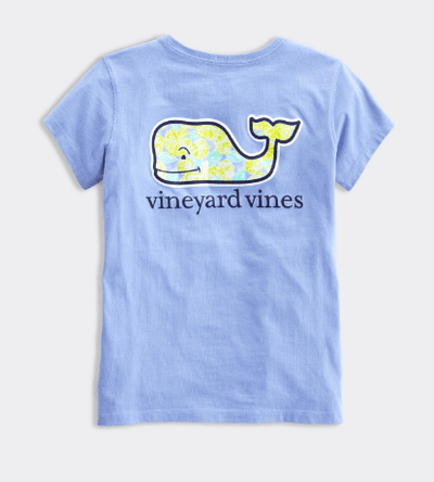 Vineyard Vines Kid's Tops Large / Hydrangea Vineyard Vines, Kids Citrus Whale Tee (Blue)