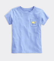 Vineyard Vines Kid's Tops Vineyard Vines, Kids Citrus Whale Tee (Blue)