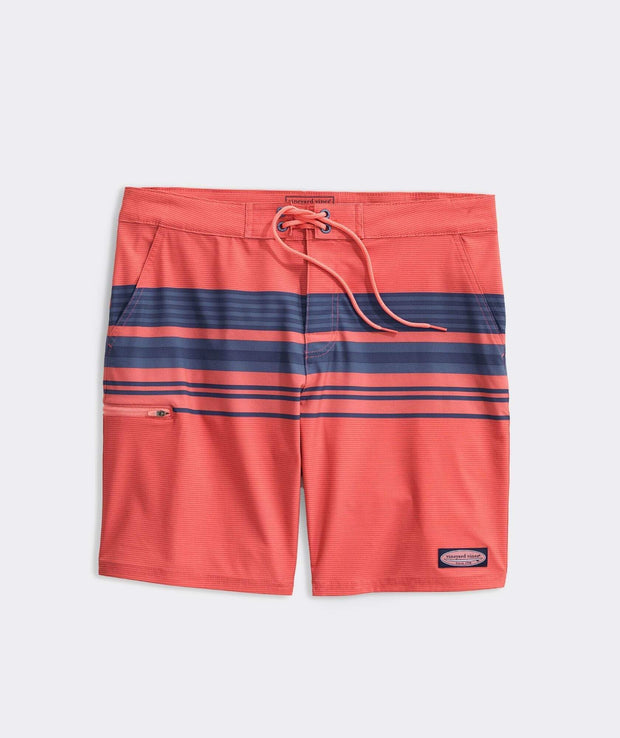 Vineyard Vines Men's Bathing Suit Coral / 30 Vineyard Vines, Men's Striped Board Short (Multiple Colors)