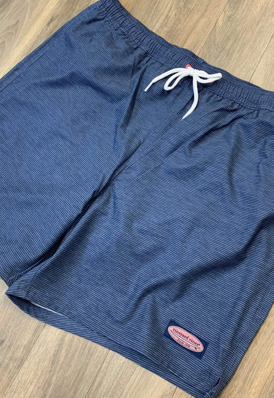 Vineyard Vines Men's Bathing Suit Medium Vineyard Vines, Men's Chappy Volley Swim Trunks (Moonshine)