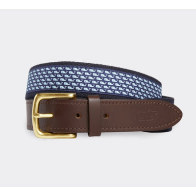 Vineyard Vines Men's Belt 30 / Navy Vineyard Vines, Men's Whale Club Belt (Navy)