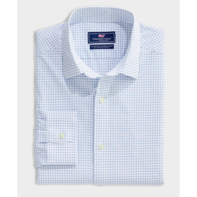 Vineyard Vines Men's Button-Down Shirts Large / Spinnaker Vineyard Vines, Men's Calabash Check Classic Cooper Shirt (Blue and White)