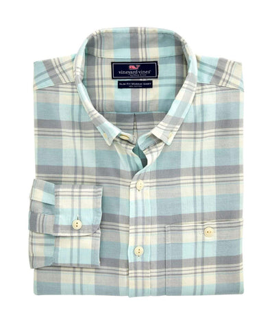 Vineyard Vines Men's Button-Down Shirts Medium Vineyard Vines, Men's Tamarind Longshore Shirt (Barracuda)