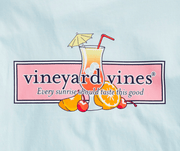 Vineyard Vines Men's Tee Shirt Vineyard Vines, Men's Tequila Sunrise Tee (Beach Blue)