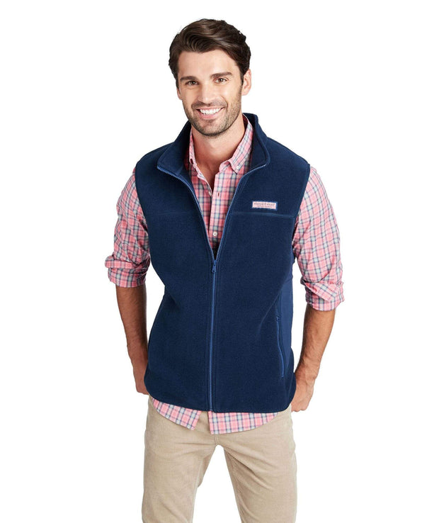 Vineyard Vines Men's Vest Large / Navy Vineyard Vines, Men's Harbor Fleece Vest (Navy)