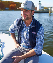 Vineyard Vines Men's Vest Vineyard Vines, Men's Harbor Fleece Vest (Navy)