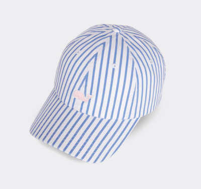 Vineyard Vines Women's Hats Hydrangea Vineyard Vines, Women's Bahamas Scene Stripe Hat (Hydrangea Blue)