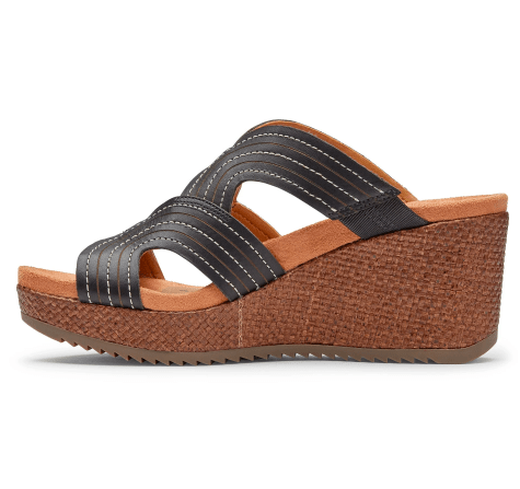 Vionic Women's Sandals Vionic, Women's Malorie Platform Sandal (Ebony and Chestnut)