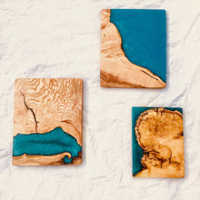 Load image into Gallery viewer, Small Wall Art - Ash with Ocean Blue Resin