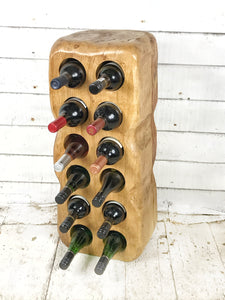 Medium Wine Rack - Oak - Contact us for information