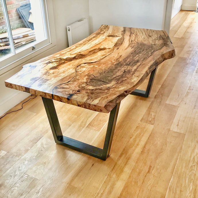 Bespoke Kitchen Table in Spalted Beech - Contact us for information