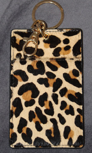Cheetah Wallet Keychain