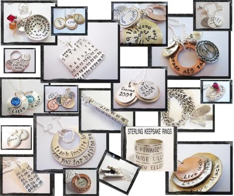 Hand Stamped Jewelry Showcase