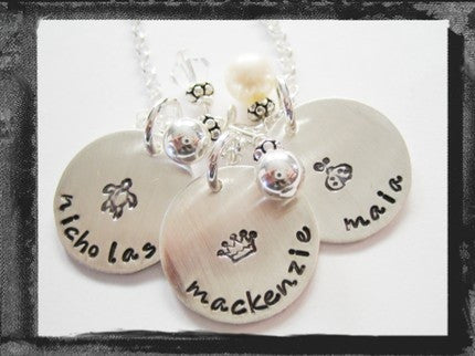 Design Stamp Charms - Sterling Silver x3