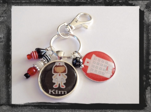 Nurse Key Ring or Bag Tag Personalized #K26