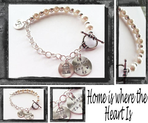 HOME IS WHERE THE HEART IS - Sterling Silver Bracelet