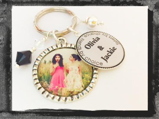 Personalized Sister Photo Keyring - Sisters By Chance Friends by Choice