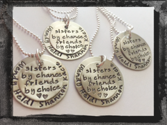 Stacked Silver Sister Necklace - Sisters By Chance...Friends By Choice