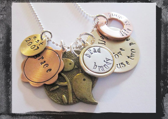 Hand Stamped - All Because Two People Fell In Love Necklace