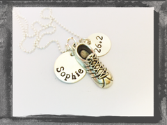 Runner Necklace in Sterling Silver with 3D Shoe charm