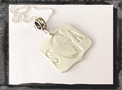 Sterling Silver Monogram Pendant Charm Necklace
