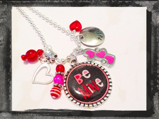 Heart Cameo Personalized BE MINE Necklace #V5