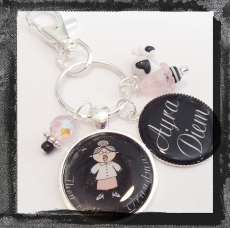 They call me Grandma -Personalized Keyring of Bag TAg