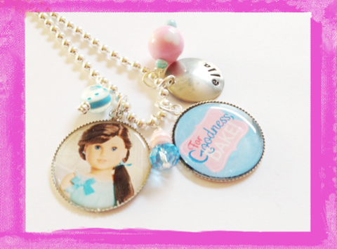 Doll Necklace - Personalized Charm Necklace for Girls  #B59