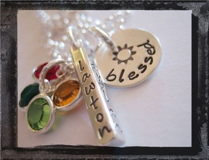 Sterling SIlver Memory Bar - Blessed Family