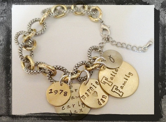 FAMILY Charm BRACELET - All in Mixed Metals