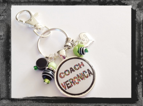 Coach Key Ring Personalized or Bag Tag Team Gift  #K27