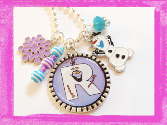 Olaf Necklace Personalized Frozen Charm Necklace