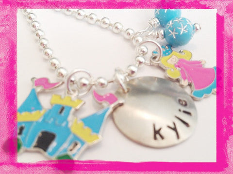 Charm Necklace - A Princess and her Castlel