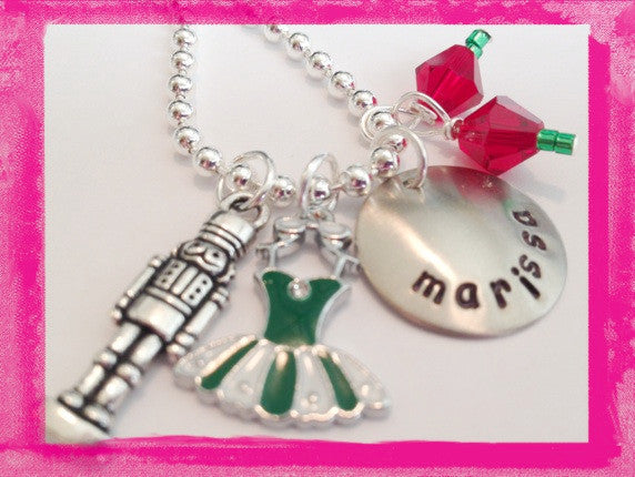Nutcracker Ballet Charm Necklace