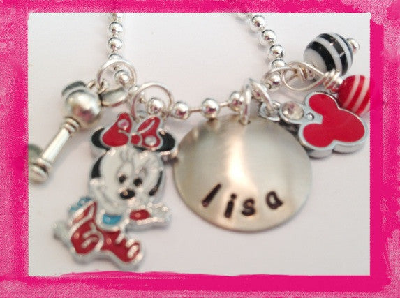 Teeny Mouse Personalized Necklace
