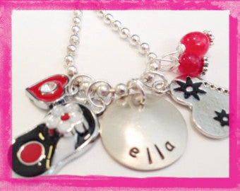 Love at the beach - Personalized Necklace for Girls #G609