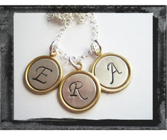 2-Toned Brass/Sterling Charm Necklace - x3