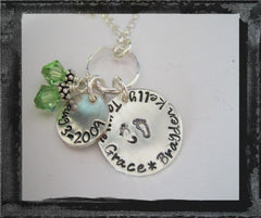 Mother of Twins - Necklace w/ names, birthstones, and birthdate