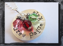 A Cup Of Love - Hammered and Textured - Round Birthstones